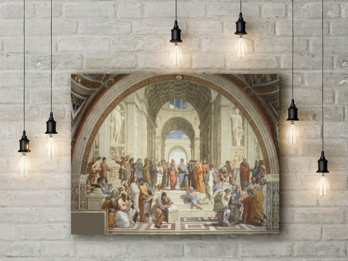 Raphael: The School of Athens. Fine Art Canvas.